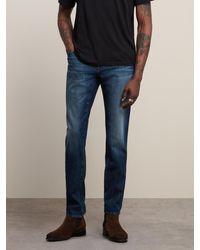 John Varvatos Bowery Slim Straight Fit Jean - Ward Wash - Blue