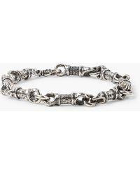 John Varvatos Silver Linked Bracelet - Metallic