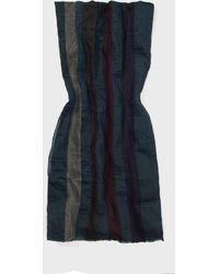 John Varvatos Multi-fiber Stripe Scarf - Blue