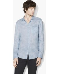 John Varvatos - Allover Water-dye Shirt - Lyst