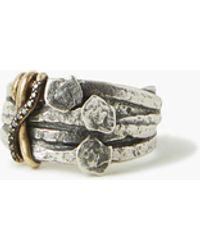 John Varvatos Sterling Silver Nails Ring - Metallic