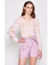 Joie - Yadra Silk Floral Top - Lyst