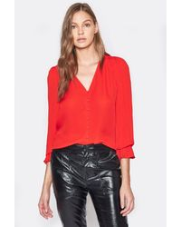 Joie Bolona Silk Top - Red