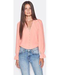 Joie Bolona Silk Top - Pink