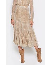 Joie Pealle Silk Skirt - Natural