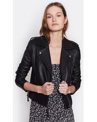 Joie Leolani Leather Jacket - Black