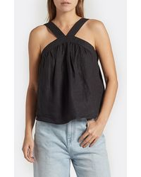 Joie Emre Linen Top - Black