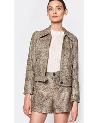 Joie Abraham Leather Jacket - Brown
