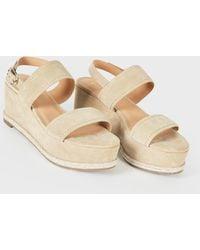 ed6521a2049 Lyst - Joie Inez Snake-embossed Leather Platform Sandal in Brown