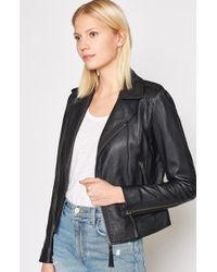 Joie Ailey Leather Jacket - Black