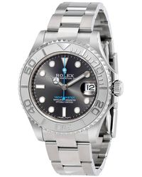 Rolex - Yacht-master Rhodium Dial Steel And Platinum Oyster 37 Mm Watch - Lyst