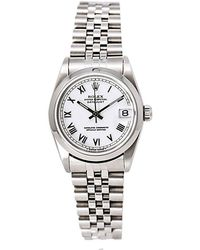 Rolex Pre-owned Datejust White Dial Ladies Watch - Metallic