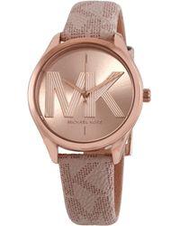 Michael Kors Quartz Rose Dial Ladies Watch - Pink