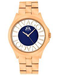 Jivago - Fun Blue Dial Rose Gold-tone Ladies Watch - Lyst