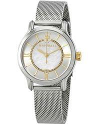 Maserati Epoca Mother Of Pearl Dial Ladies Watch - Metallic