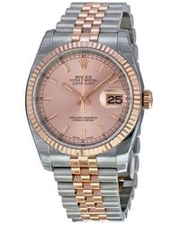 Rolex Oyster Perpetual Datejust 36 Pink Champagne Dial Stainless Steel - Multicolor
