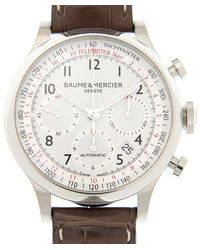 Baume & Mercier Capeland Chronograph White Dial Watch - Metallic