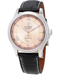 S. Coifman Swiss Made Rose Gold Dial Mens Watch - Multicolor
