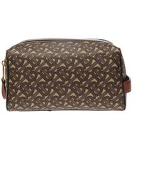Burberry Hart Tb Monogram Canvas Pouch - Brown
