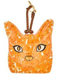 Loewe Ladies Orange Ja Cat Handbag Charm