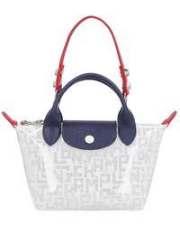 Longchamp Ladies Le Pliage Lgp Mini Top Handle Bag - Blue