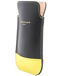 Longchamp Black/yellow Mini Pouch
