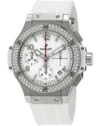 Hublot Big Bang Chronograph Uwhite Dial White Rubber Unisex Watch 342se230rw114 - Metallic