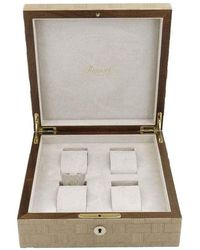 Rapport London Rapport Heritage Bamboo 4 Watch Case - Multicolour