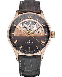 Edox Les Vauberts Open Heart Grey Dial Automatic Watch  37rg Gir - Multicolour
