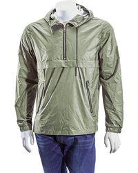 The Very Warm Mens Amry Green Half Zip Pop Over, Brand