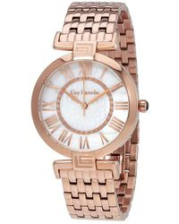 Guy Laroche Far East White Mother Of Pearl Dial Ladies Rose Gold Tone Watch -05 - Pink