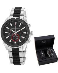 Armani Exchange Enzo Chronograph Quartz Black Dial Mens Watch