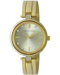 Geoffrey Beene Quartz Champagne Dial Ladies Watch - Metallic