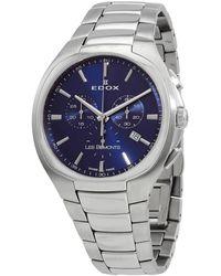 Edox Les Bemonts Chronograph Quartz Blue Dial Watch  3 Buin