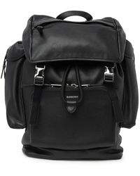 Burberry Grainy Leather Backpack - Black