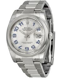 Rolex Pre-owned Oyster Perpetual Datejust 36 Automatic Chronometer Silver Dial Mens Watch - Metallic