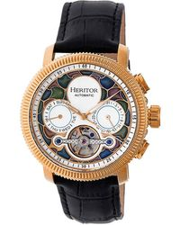 Heritor Aura Automatic Vitreous Enamel Dial Mens Watch - Multicolour