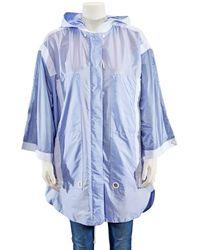 Moncler Ladies Hooded Jacket - Blue
