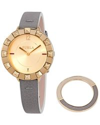 Furla Club Gold Dial Ladies Watch - Metallic