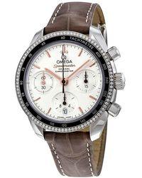 Omega Speedmaster Chronograph Automatic Ladies Diamond Watch - Metallic
