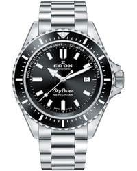 Edox Skydiver Neptunian Automatic Black Dial Watch  3nm Nin - Metallic