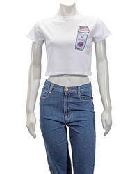 Yazbukey White ''shake It Baby'' Print T-shirt, Brand