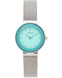 Skagen - Leonora Quartz Diamond White Dial Ladies Watch - Lyst