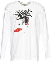 Burberry Mens White Logo Print Sweatshirt, Brand