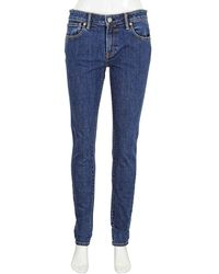 Burberry Skinny Fit Japanese Denim Jeans - Blue