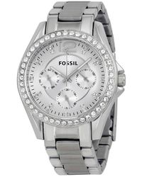 Fossil Riley Multi-function Silver Dial Ladies Watch - Metallic