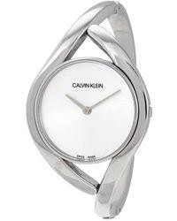 Calvin Klein S Analogue Quartz Watch With Stainless Steel Strap K8u2m111 - Metallic
