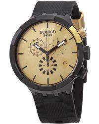 Swatch Chronograph Quartz Mens Watch - Metallic