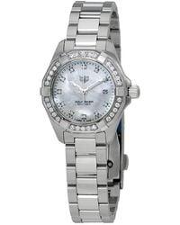 Tag Heuer Aquaracer Diamond White Mother Of Pearl Dial Ladies Watch - Metallic