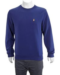 Calvin Klein Mens Embroidered Crewneck Long Sleeve Jumper, Brand - Blue